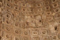 Forum.Bas-relief romano en un arco. Fotos de archivo libres de regalías