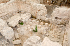 The forum baths of the ancient Roman ruins in Egnazia Royalty Free Stock Image