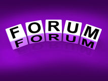 Forum Blocks Show Advice or Social Media or Royalty Free Stock Images