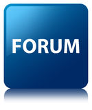 Forum blue square button. Forum isolated on blue square button reflected abstract illustration Royalty Free Stock Images