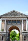Forum Boarium seen from the island Memmia in Prato della Valle in Padua in the Veneto (Italy). Photo made in Prato della Valle in Padua in Veneto (Italy). In the Stock Photography