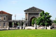 Forum Boarium seen from the island Memmia in Prato della Valle in Padua in the Veneto (Italy) Stock Images