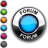Forum button. Illustration of Forum realistic button Stock Images