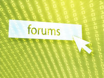 Forum button Stock Images