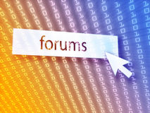 Forum button Stock Photos