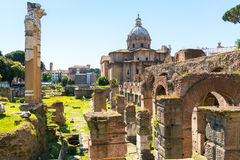 Forum of Caesar in Rome Royalty Free Stock Photography