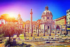 Forum of Caesar in Rome, Italy. Architecture and landmark of Rom Royalty Free Stock Photography