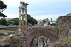 Forum of Caesar in Rome. Stock Photo