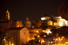 Forum Capitoline Hill Night Rome Italy Stock Image