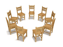 Forum Chairs. This is a 3d render illustration Stock Images