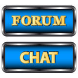 Forum and chat icons Stock Photography