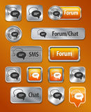 Forum/Chat/SMS web elements Royalty Free Stock Photos