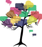 Forum or chat: in  tree Stock Image