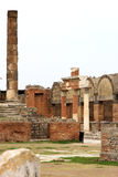 Forum Civile in ancient Pompei, Foro, Italy Stock Image