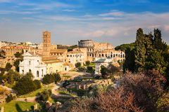 Forum and Coliseum in Rome Royalty Free Stock Photos