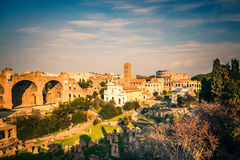 Forum and Coliseum in Rome Stock Photography