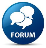 Forum (comments icon) blue round button Stock Image