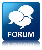 Forum (comments icon) blue square button Royalty Free Stock Image