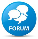 Forum (comments icon) cyan blue round button Royalty Free Stock Photography