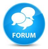 Forum (comments icon) elegant cyan blue round button. Forum (comments icon) isolated on elegant cyan blue round button abstract illustration Royalty Free Stock Photos