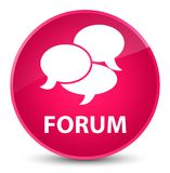 Forum (comments icon) elegant pink round button. Forum (comments icon) isolated on elegant pink round button abstract illustration Stock Photo