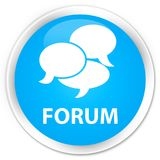 Forum (comments icon) premium cyan blue round button Royalty Free Stock Photo