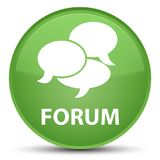 Forum (comments icon) special soft green round button Stock Images