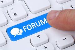 Forum communication community internet blog media discussion Stock Image
