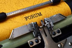 Forum concept Royalty Free Stock Images