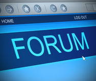 Forum concept. Royalty Free Stock Photo