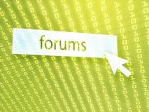 forum de bouton illustration de vecteur