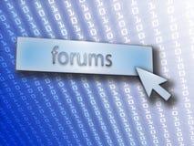 forum de bouton illustration libre de droits
