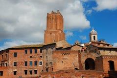 Forum de visite du ` s de Trajan à Rome Photo stock