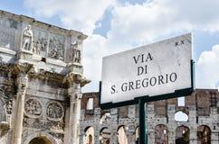 Forum di Roma, Italia Fotografia Stock