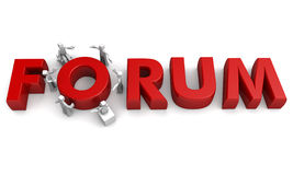 Forum discussion concept Royalty Free Stock Photography