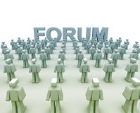 Forum Discussions Group. Forum Discussions with many 3d human characters Royalty Free Stock Photography