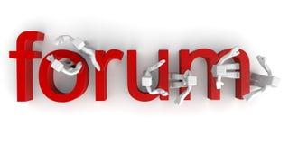 Forum-Diskussions-Konzept lizenzfreie abbildung