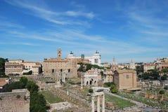 Forum e palatino romani a Roma nel Lazio in Italia Immagine Stock