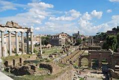 Forum e palatino romani a Roma nel Lazio in Italia Immagini Stock