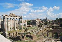 Forum e palatino romani a Roma nel Lazio in Italia Fotografia Stock