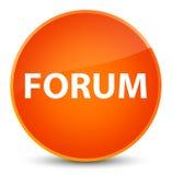 Forum elegant orange round button. Forum isolated on elegant orange round button abstract illustration Royalty Free Stock Images