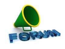 Forum et mégaphone illustration de vecteur