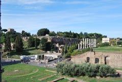 Forum et palatino romains à Rome au Latium en Italie Photo libre de droits