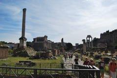 Forum et palatino romains à Rome au Latium en Italie Photos stock