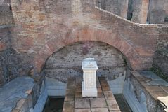 Forum et palatino romains à Rome au Latium en Italie Images libres de droits