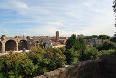 Forum et palatino romains à Rome au Latium en Italie Image stock