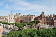 Forum et palatino romains à Rome au Latium en Italie Images stock