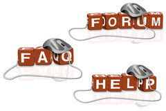 Forum faq help solution and answers Royalty Free Stock Image