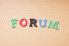 Forum in foam rubber letters Royalty Free Stock Photography