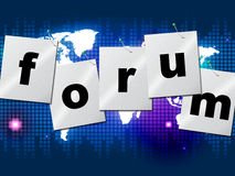 Forum Forums Means Social Media And Communication. Forum Forums Representing Social Media And Group Stock Image